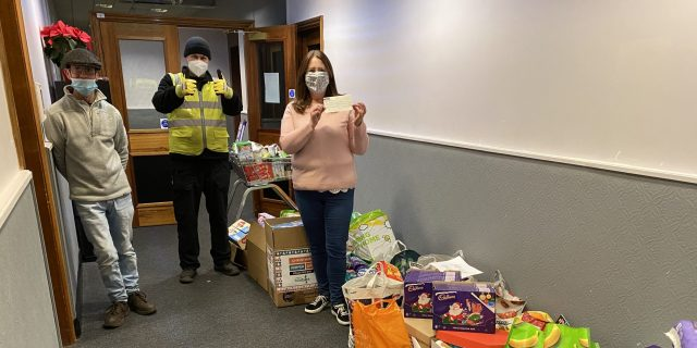 BEL Engineering employees donate to local foodbanks
